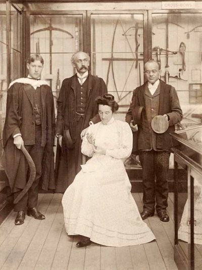 Francis Knowles  Henry Balfour  J.A. Harley  and Barbara Freire-Marecco in the Pitt Rivers Museum 1998.266.3