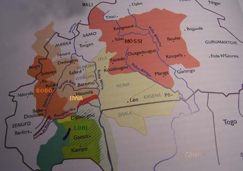 Carte Region des 3 Volta