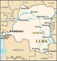 Carte du pays Luba